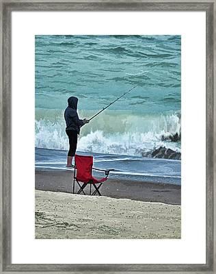 Early Morning Surf Fishing Framed Print