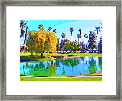 Early Morning Tee Time Framed Print by Dominic Piperata