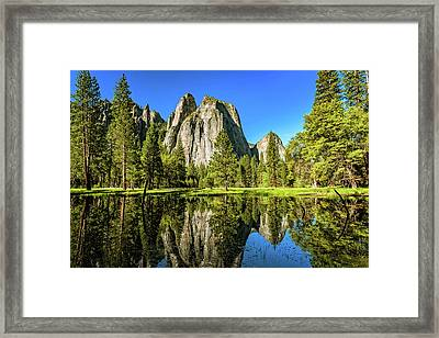 Early Morning View At Cathedral Rocks Vista Framed Print