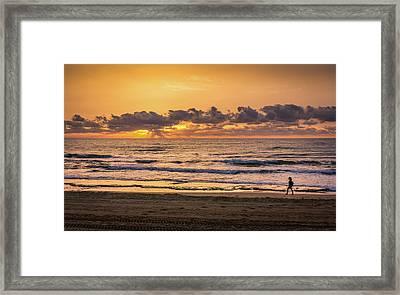 Early Morning Walk Framed Print by Gary Gillette