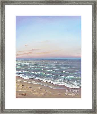 Early Morning Waves Framed Print