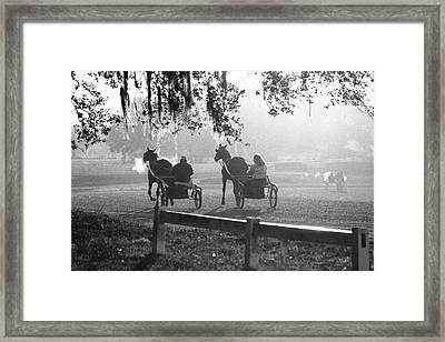 Early Morning Workout Framed Print by M Kathleen Warren