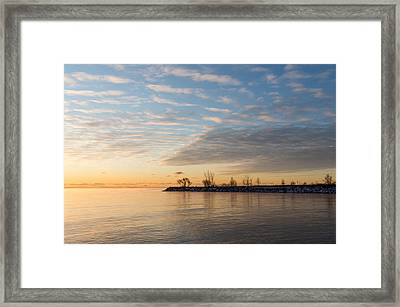 Early Morning Zen - Meditating On The Waterfront At Sunrise Framed Print by Georgia Mizuleva