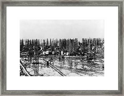 Early Oil Field Framed Print by Granger