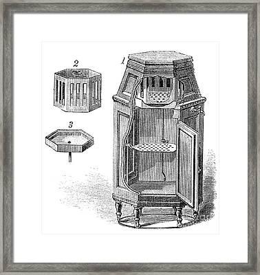 Early Refrigerator, 19th Century Framed Print by Spl