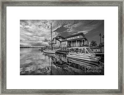 Early Sailing - Black And White Framed Print by Mina Isaac