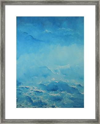 Early Shoreline Fog Framed Print