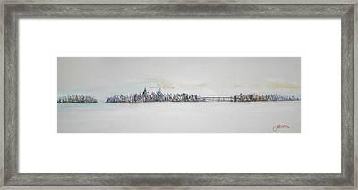 Early Skyline Framed Print