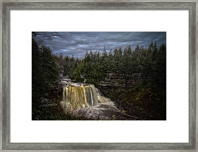 Early Snow At Black Water Falls Framed Print