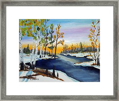 Early Snow Fall Framed Print by Jack G Brauer