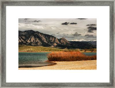 Early Snow On Fall Framed Print