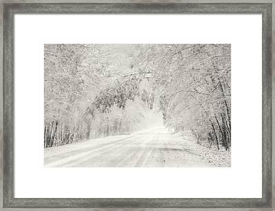 Early Snowfall Framed Print