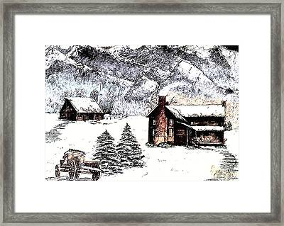 Early Snowfall Framed Print by Penny Everhart