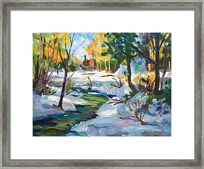 Early Snowfall Plein Aire  Framed Print