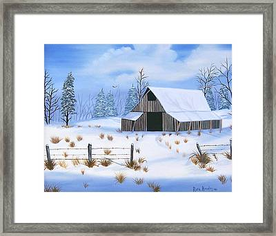 Early Snowfall Framed Print by Ruth  Housley