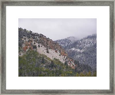 Framed Print featuring the photograph Early Snows by DeeLon Merritt