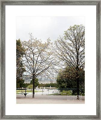 Early Spring At Tuileries Garden Framed Print