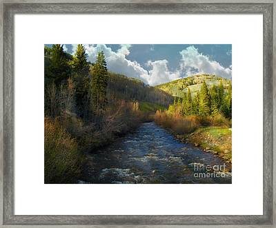 Early Spring Delores River Framed Print by Annie Gibbons