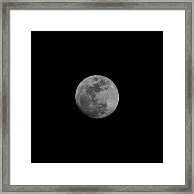 Early Spring Moon 2017 Framed Print by Jason Coward
