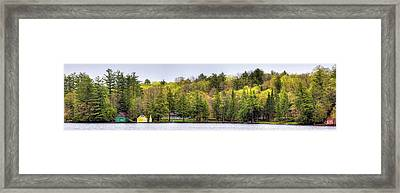 Early Spring Panorama Framed Print by David Patterson