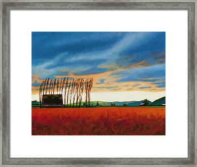 Early Spring, Skagit Valley Framed Print
