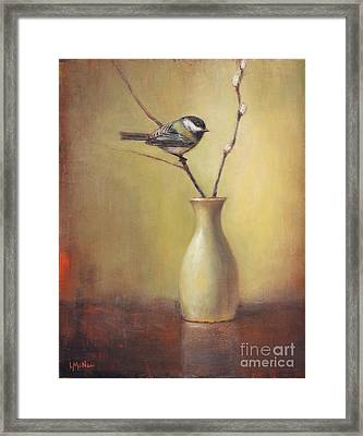 Early Spring Still Life Framed Print by Lori McNee