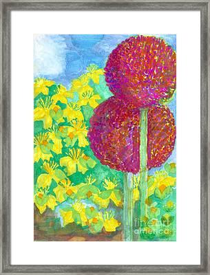 Early Summer Garden Framed Print