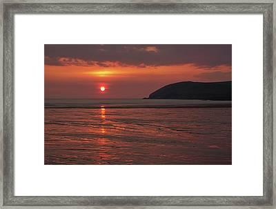 Early Summer On Croyde Beach In N Devon Framed Print by Pete Hemington