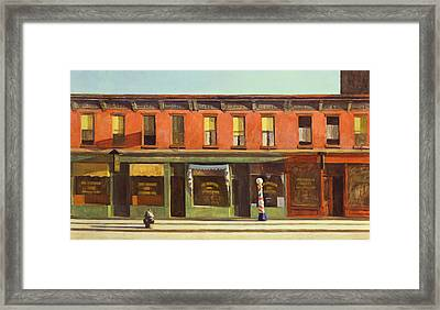 Early Sunday Morning Framed Print by Edward Hopper