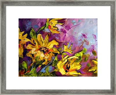 Early Sunflowers Framed Print