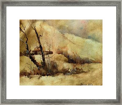 Early Winter Framed Print by Donna Elio