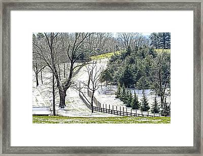 Early Winter Pasture Framed Print by Susan Leggett