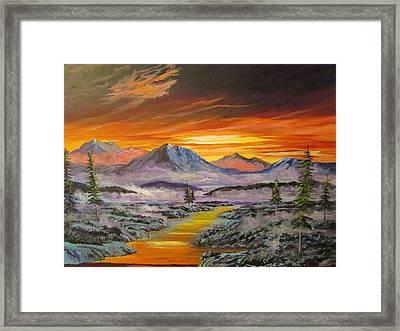 Early Winter Sunset Framed Print
