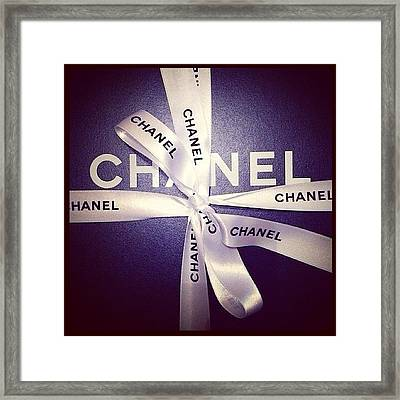 Early Xmas Present! 😍 #chanel Framed Print