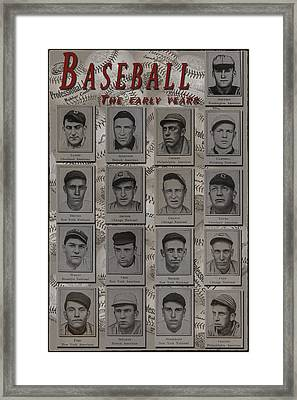 Early Years Baseball Framed Print by Nichon Thorstrom