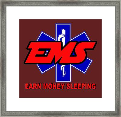 Earn Money Sleeping Framed Print