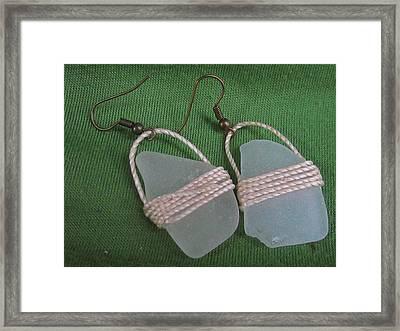 Earrings 4 Framed Print by Lorna Diwata Fernandez