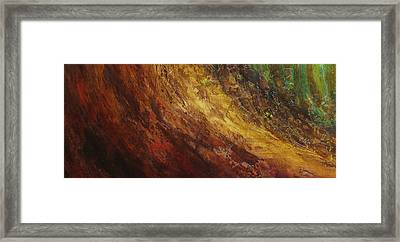 Earth A Framed Print by Pure Abstract