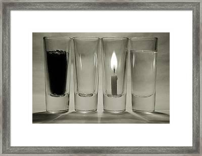 Earth. Air. Fire. Water. Framed Print