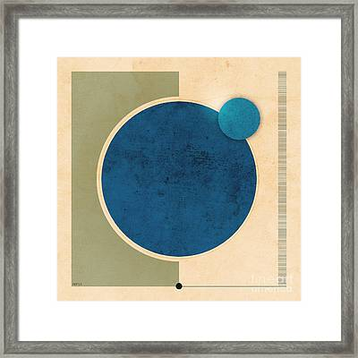Earth And Moon Graphic Framed Print by Phil Perkins