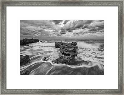 Earth And Sky Framed Print by Mike Lang