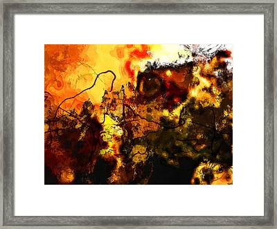 Earth And Sun Framed Print