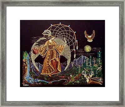 Earth Angel Moon Rise Framed Print by Emily Kolar