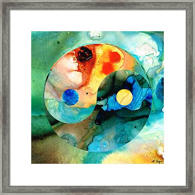 Earth Balance - Yin And Yang Art Framed Print by Sharon Cummings