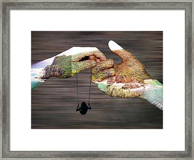 Earth Child Framed Print by Andre Pillay