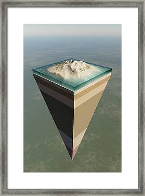 Earth Core Structure Cut-away Framed Print