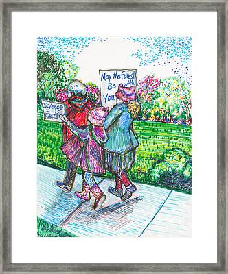 Earth Day Framed Print by Susan Brown    Slizys art signature name