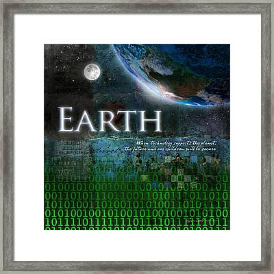 Earth Framed Print by Evie Cook