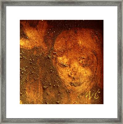 Framed Print featuring the painting Earth Face by Winsome Gunning