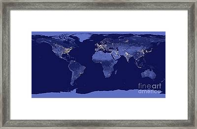 Earth From Space Framed Print by Delphimages Photo Creations